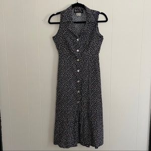 Vintage 90's Ditzy Print Floral Tie Back Dress